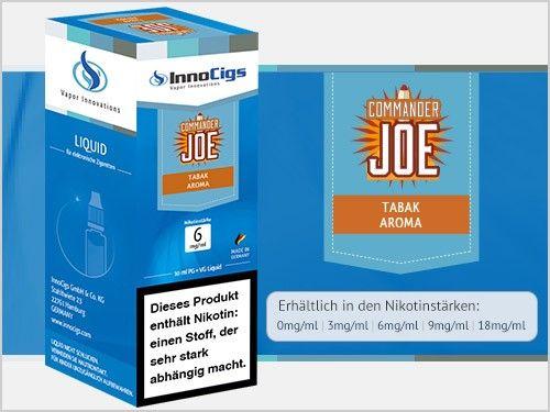 InnoCigs Commander Joe Tabak Liquid 10ml
