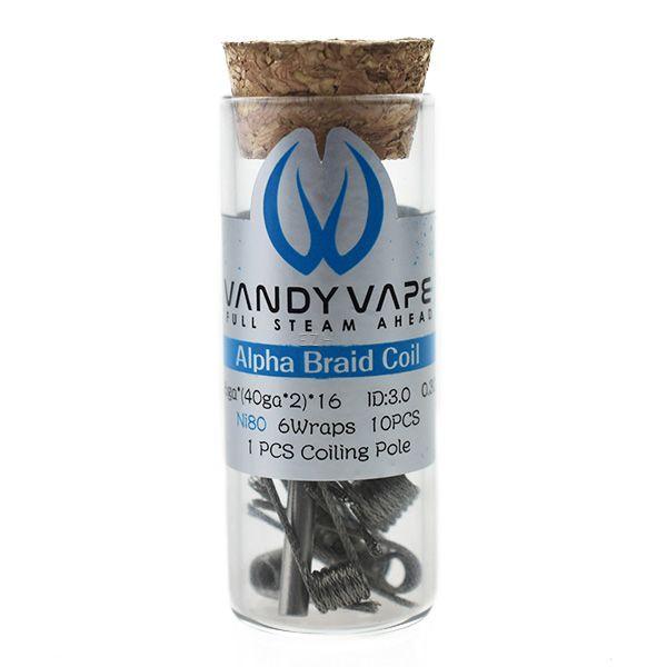 Vandy Vape Prebuilt Ni80 Alpha Braid Coil 0,3 Ohm