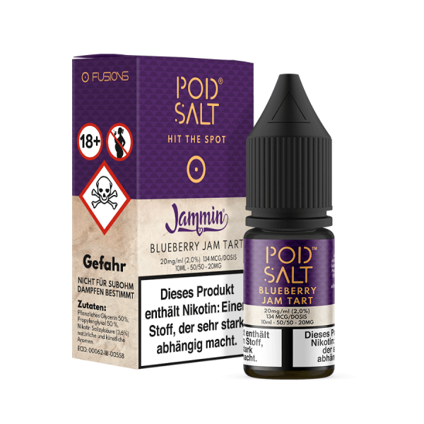 Pod Salt Fusion NicSalt Blueberry Jam Tart 10ml