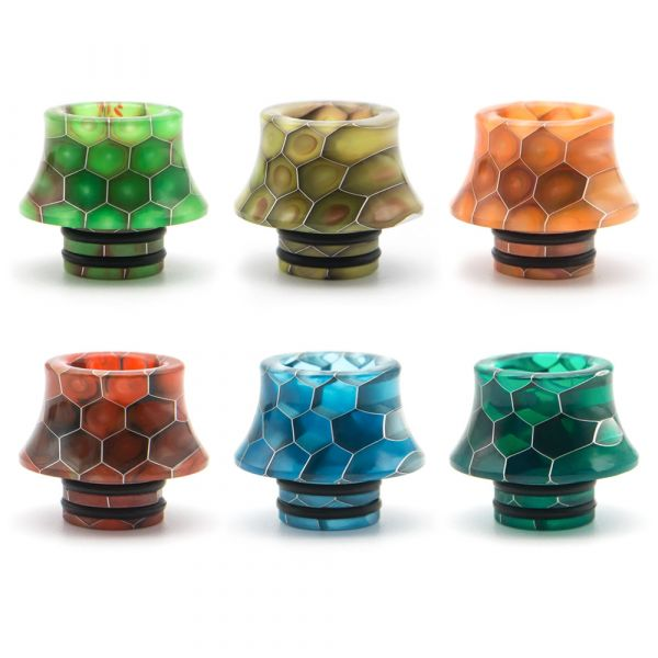 510 Drip Tip Honeycomb Curved D019S
