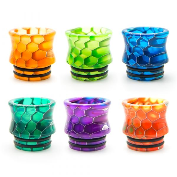 810 Drip Tip Honeycomb Curved D008S2