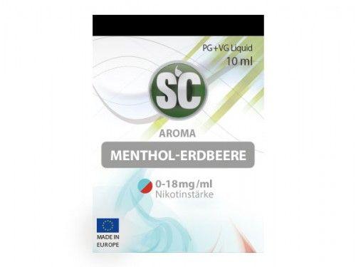 SC E-Liquid Menthol Erdbeere 10ml