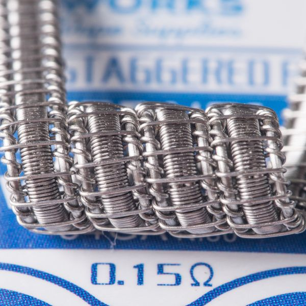 CloudWorks 10x Staple Staggered Fused Coil Kanthal 0,15 Ohm